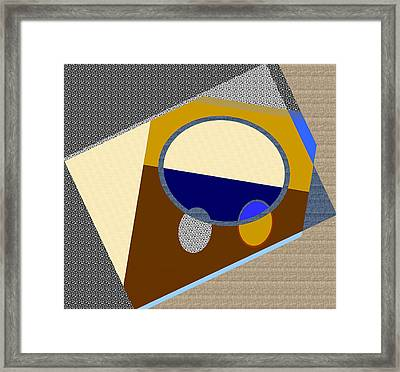 Design - Confusion In Space Framed Print by Lenore Senior