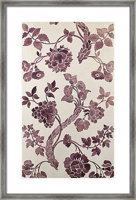 Design For A Silk Damask Framed Print