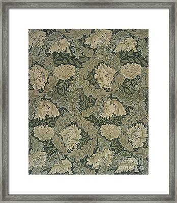 Design For 'lea' Wallpaper Framed Print by William Morris