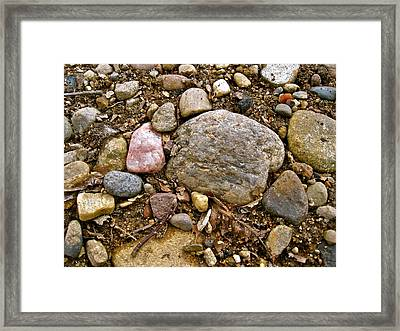 Designs By Nature - Fp3 - Rocks Framed Print by Felix Zapata