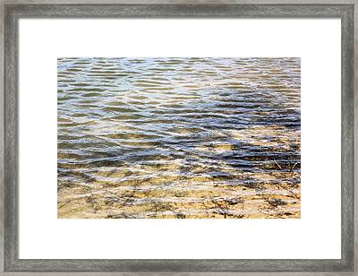 Designs By Nature - Ripples Framed Print