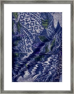 Designs With Blues Framed Print by Anne-Elizabeth Whiteway