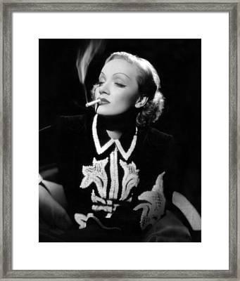 Desire, Marlene Dietrich, 1936 Framed Print