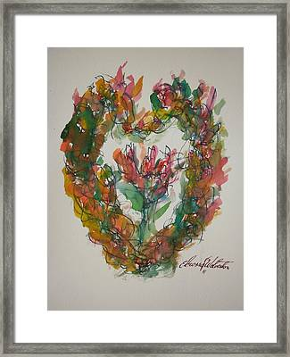 Desire My Heart Framed Print by Edward Wolverton