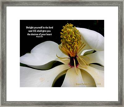 Desires Of Your Heart Framed Print