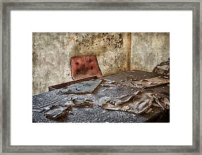 Desk And Chair Mare Island Framed Print