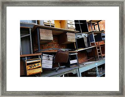 Desk Scrap Framed Print