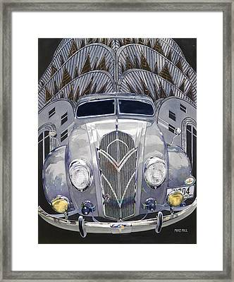 Desoto And Deco Design Framed Print by Mike Hill