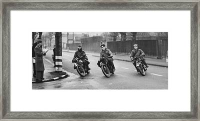 Despatch Riders Framed Print by A R Tanner
