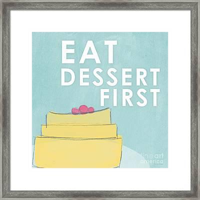 Dessert Framed Print by Linda Woods