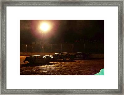 Destruction In The Dark Framed Print by Sherry Penson