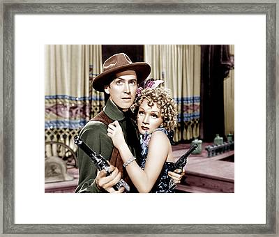 Destry Rides Again, From Left James Framed Print by Everett