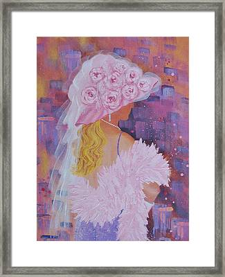 Pink Hat Beauty Framed Print by Margaret Bobb