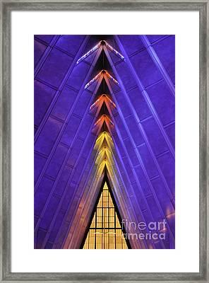 Detail Af Academy Cadet Chapel Framed Print