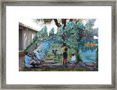 Framed Print featuring the painting Detail From Spring 1 by Jan Swaren