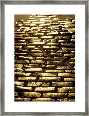Detail Of Cobblestones, Dublin, Ireland Framed Print by The Irish Image Collection