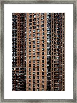 Detail Of High Rise-buildings, Manhattan, New York City, Usa Framed Print by Frederick Bass