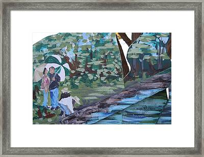 Framed Print featuring the painting Detail Of Spring 1 by Jan Swaren