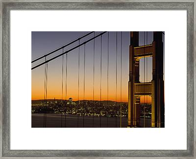 Detail Of The Golden Gate Bridge At Framed Print by Axiom Photographic