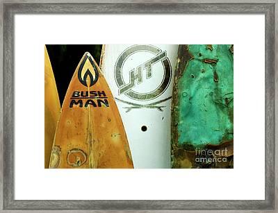 Detail Surfboard Fence Framed Print by Bob Christopher