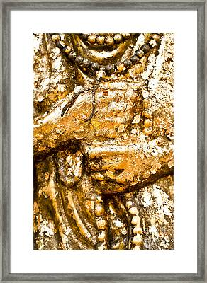 Details Of Golden Buddha Statue Framed Print by Chavalit Kamolthamanon