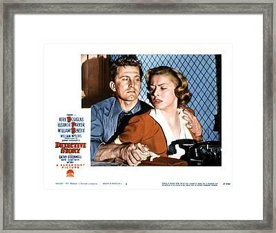 Detective Story, Kirk Douglas, Eleanor Framed Print by Everett