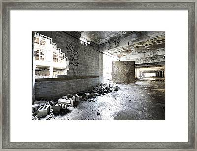 Detroit Abandoned Building Framed Print