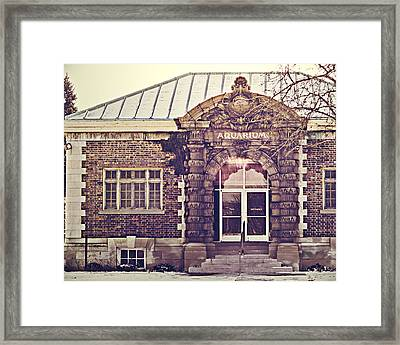 Detroit Belle Isle Aquarium Framed Print by Alanna Pfeffer