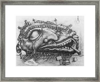 Detroit Hangover Framed Print by Mack Galixtar