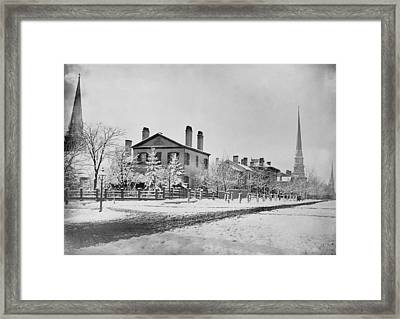 Detroit Michigan In 1870. South West Framed Print by Everett