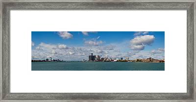 Detroit Michigan Skyline Framed Print by Twenty Two North Photography