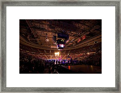 Detroit Pistons  Framed Print by Joe Gee