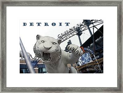 Detroit Tigers I Framed Print by Linda  Parker