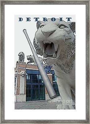 Detroit Tigers II Framed Print by Linda  Parker