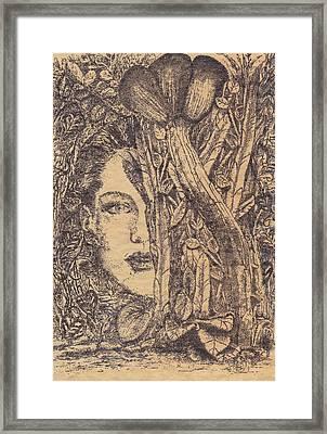 Deusa Da Selva Framed Print by Buck Buchheister