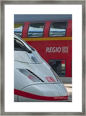 Deutche Bahn Trains Framed Print