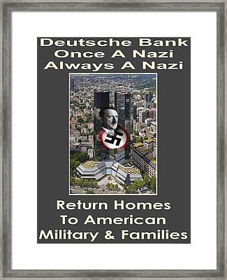 Deutsche Bank Return Homes To Americans Framed Print