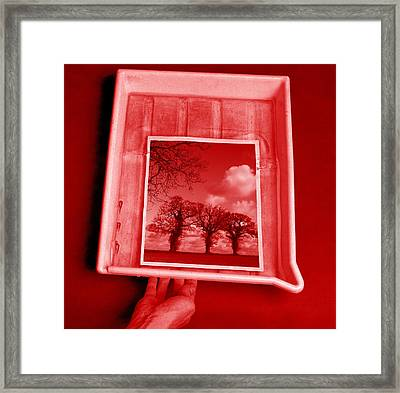 Developing Photograph Framed Print by Victor De Schwanberg
