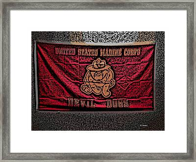 Devil Dogs Framed Print by George Pedro