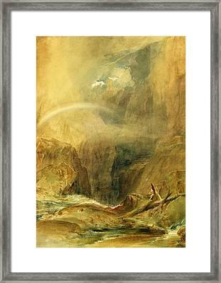 Devil's Bridge Framed Print by Joseph Mallord William Turner