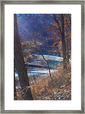 Devils Den State Park Creek Framed Print by Patty Vicknair