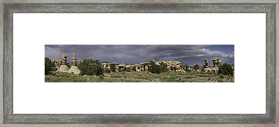 Framed Print featuring the photograph Devils Garden Panorama by Gregory Scott