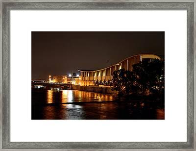 Devos Hall At Night Framed Print by Richard Gregurich