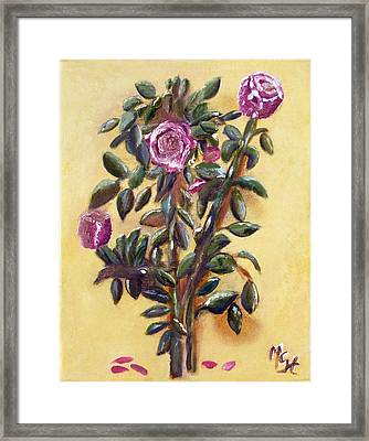 Framed Print featuring the painting Dew Upon The Roses by Margaret Harmon