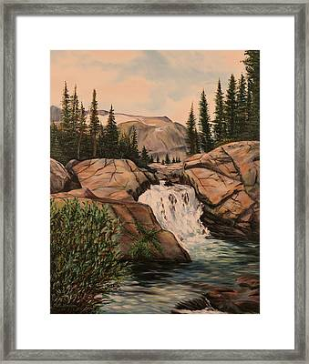 Dewey Falls Framed Print by Patti Gordon