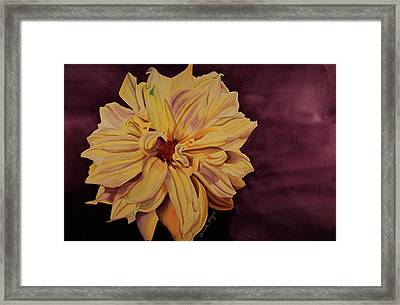 Framed Print featuring the painting Dhalia by Teresa Beyer