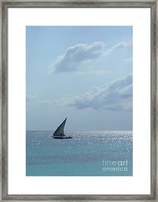 Dhow Framed Print by Alan Clifford