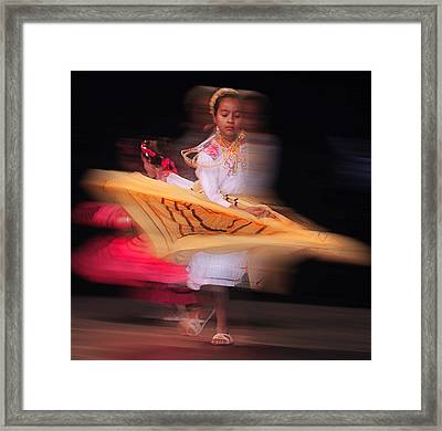 Dia De Los Muertos Dancing Framed Print