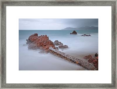Diagonal Rocks Framed Print