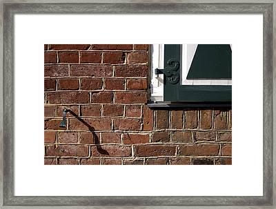 Diagonal Shadow Framed Print